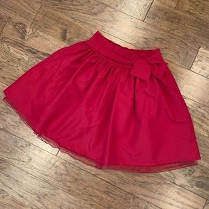 Red tulle puff skirt